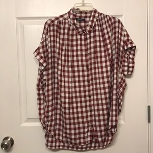 W Madewell Gingham Button Down